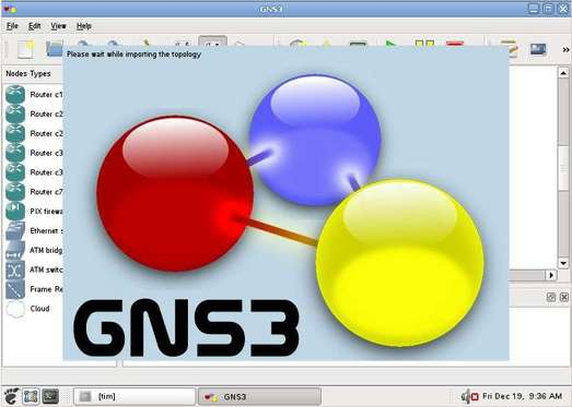 GNS3 topology config save