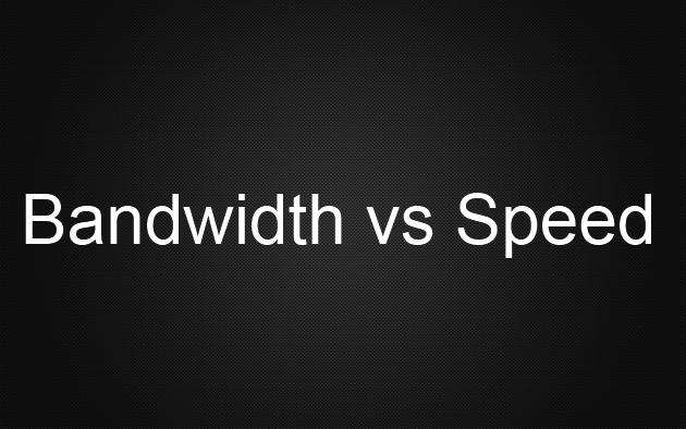Cisco: Speed vs Bandwidth interface command