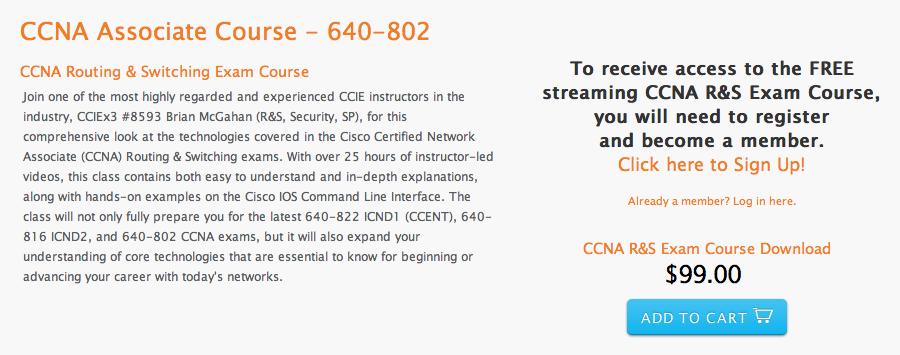 CCNA Associate Course - 640-802