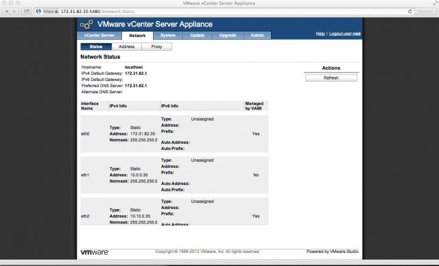 vCenter Server Appliance
