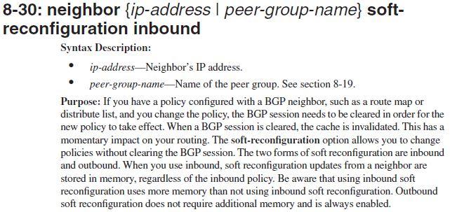 BGP soft-reconfiguration inbound